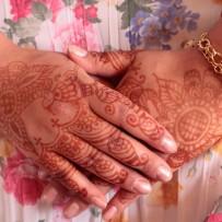 Bridal henna hands Amelia