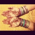Henna flowers color